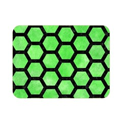 Hexagon2 Black Marble & Green Watercolor (r) Double Sided Flano Blanket (mini)
