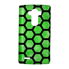 Hexagon2 Black Marble & Green Watercolor (r) Lg G4 Hardshell Case