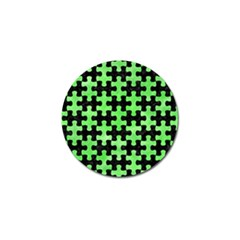 Puzzle1 Black Marble & Green Watercolor Golf Ball Marker (4 Pack)