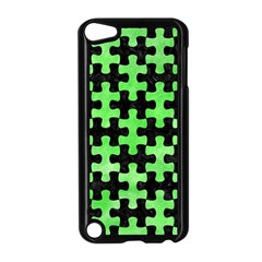 Puzzle1 Black Marble & Green Watercolor Apple Ipod Touch 5 Case (black)