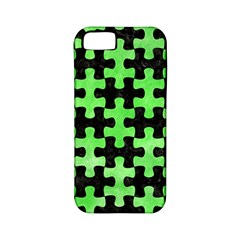Puzzle1 Black Marble & Green Watercolor Apple Iphone 5 Classic Hardshell Case (pc+silicone)