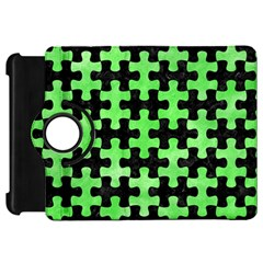 Puzzle1 Black Marble & Green Watercolor Kindle Fire Hd 7