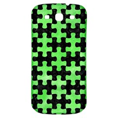 Puzzle1 Black Marble & Green Watercolor Samsung Galaxy S3 S Iii Classic Hardshell Back Case