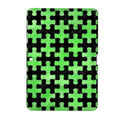 Puzzle1 Black Marble & Green Watercolor Samsung Galaxy Tab 2 (10 1 ) P5100 Hardshell Case