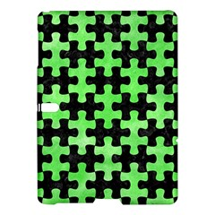 Puzzle1 Black Marble & Green Watercolor Samsung Galaxy Tab S (10 5 ) Hardshell Case