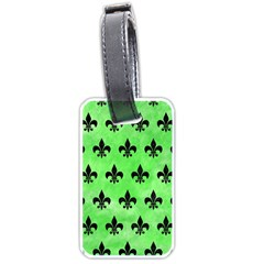 Royal1 Black Marble & Green Watercolor Luggage Tags (two Sides)