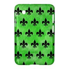 Royal1 Black Marble & Green Watercolor Samsung Galaxy Tab 2 (7 ) P3100 Hardshell Case