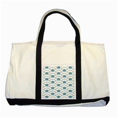 Art Deco,shell Pattern,teal,white Two Tone Tote Bag