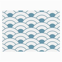 Art Deco,shell Pattern,teal,white Large Glasses Cloth