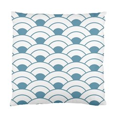 Art Deco,shell Pattern,teal,white Standard Cushion Case (two Sides)
