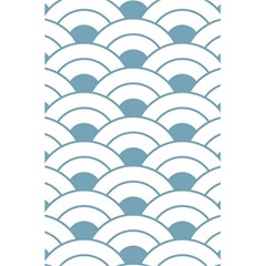 Art Deco,shell Pattern,teal,white 5 5  X 8 5  Notebooks