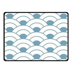 Art Deco,shell Pattern,teal,white Fleece Blanket (small)