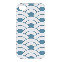 Art Deco,shell Pattern,teal,white Apple Iphone 4/4s Premium Hardshell Case