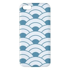 Art Deco,shell Pattern,teal,white Apple Iphone 5 Premium Hardshell Case