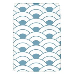 Art Deco,shell Pattern,teal,white Flap Covers (s)
