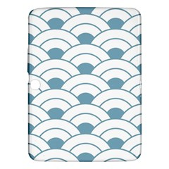 Art Deco,shell Pattern,teal,white Samsung Galaxy Tab 3 (10 1 ) P5200 Hardshell Case