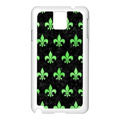 Royal1 Black Marble & Green Watercolor (r) Samsung Galaxy Note 3 N9005 Case (white)