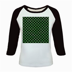Scales1 Black Marble & Green Watercolor Kids Baseball Jerseys