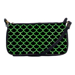 Scales1 Black Marble & Green Watercolor Shoulder Clutch Bags
