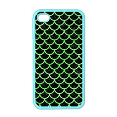 Scales1 Black Marble & Green Watercolor Apple Iphone 4 Case (color)