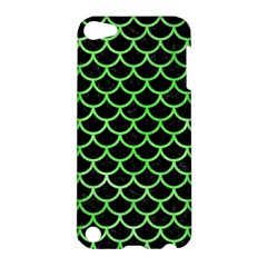 Scales1 Black Marble & Green Watercolor Apple Ipod Touch 5 Hardshell Case