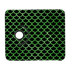 Scales1 Black Marble & Green Watercolor Galaxy S3 (flip/folio)