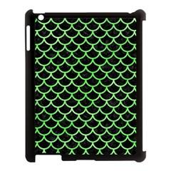 Scales1 Black Marble & Green Watercolor Apple Ipad 3/4 Case (black)