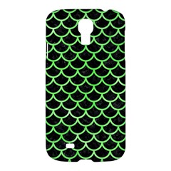 Scales1 Black Marble & Green Watercolor Samsung Galaxy S4 I9500/i9505 Hardshell Case