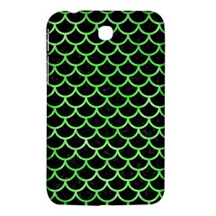 Scales1 Black Marble & Green Watercolor Samsung Galaxy Tab 3 (7 ) P3200 Hardshell Case