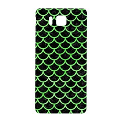 Scales1 Black Marble & Green Watercolor Samsung Galaxy Alpha Hardshell Back Case