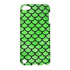 Scales1 Black Marble & Green Watercolor (r) Apple Ipod Touch 5 Hardshell Case