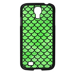 Scales1 Black Marble & Green Watercolor (r) Samsung Galaxy S4 I9500/ I9505 Case (black)