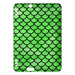 Scales1 Black Marble & Green Watercolor (r) Kindle Fire Hdx Hardshell Case