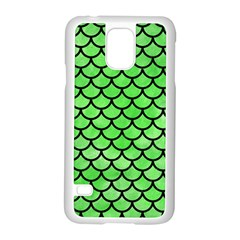 Scales1 Black Marble & Green Watercolor (r) Samsung Galaxy S5 Case (white)