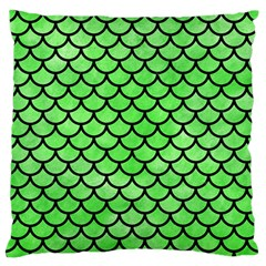 Scales1 Black Marble & Green Watercolor (r) Standard Flano Cushion Case (two Sides)