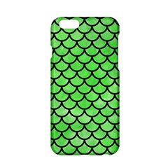 Scales1 Black Marble & Green Watercolor (r) Apple Iphone 6/6s Hardshell Case