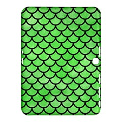 Scales1 Black Marble & Green Watercolor (r) Samsung Galaxy Tab 4 (10 1 ) Hardshell Case