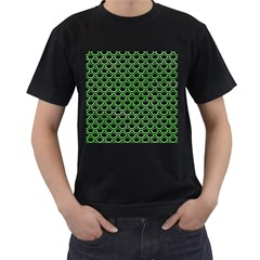 Scales2 Black Marble & Green Watercolor Men s T Shirt (black)