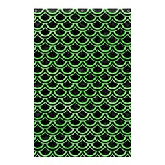 Scales2 Black Marble & Green Watercolor Shower Curtain 48  X 72  (small)