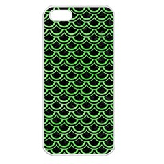 Scales2 Black Marble & Green Watercolor Apple Iphone 5 Seamless Case (white)