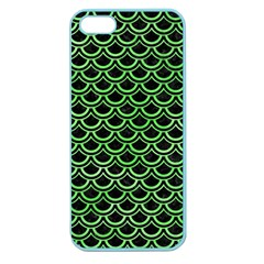 Scales2 Black Marble & Green Watercolor Apple Seamless Iphone 5 Case (color)