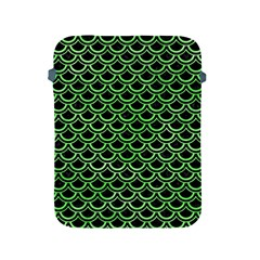 Scales2 Black Marble & Green Watercolor Apple Ipad 2/3/4 Protective Soft Cases