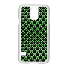 Scales2 Black Marble & Green Watercolor Samsung Galaxy S5 Case (white)