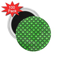 Scales2 Black Marble & Green Watercolor (r) 2 25  Magnets (100 Pack)