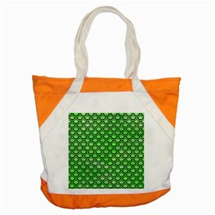 Scales2 Black Marble & Green Watercolor (r) Accent Tote Bag