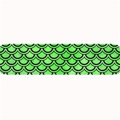 Scales2 Black Marble & Green Watercolor (r) Large Bar Mats