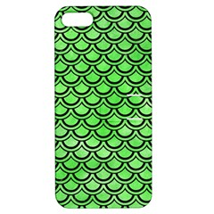 Scales2 Black Marble & Green Watercolor (r) Apple Iphone 5 Hardshell Case With Stand