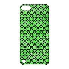 Scales2 Black Marble & Green Watercolor (r) Apple Ipod Touch 5 Hardshell Case With Stand