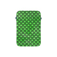 Scales2 Black Marble & Green Watercolor (r) Apple Ipad Mini Protective Soft Cases