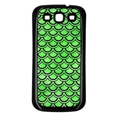 Scales2 Black Marble & Green Watercolor (r) Samsung Galaxy S3 Back Case (black)